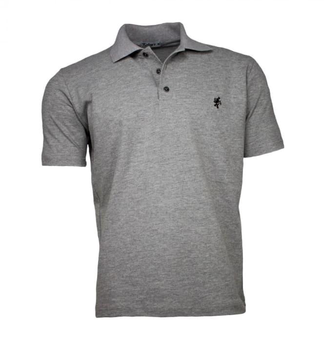 Camisa Polo Masculina Cinza (0)