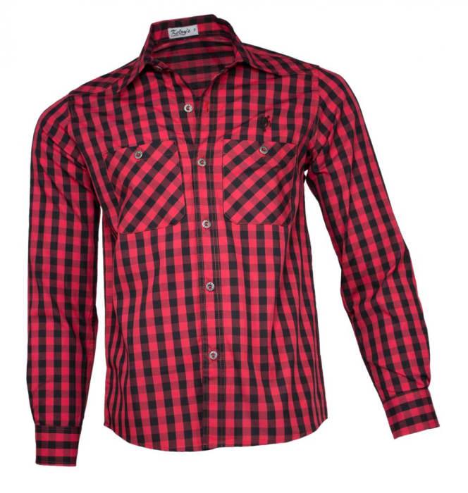 Camisa Xadrez Masculina Vermelho Preto Pequeno (0)