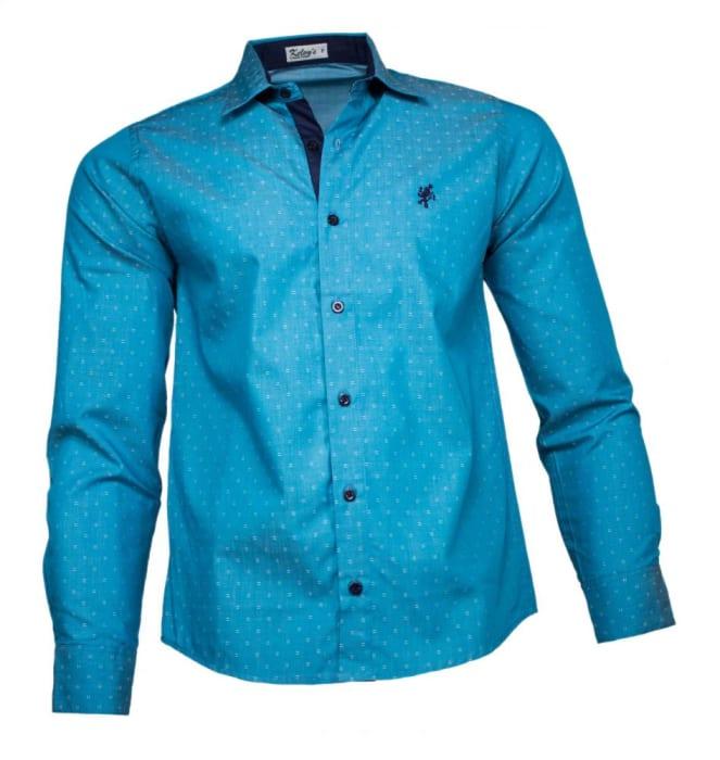 Camisa Social Masculina Verde Maquinetado (0)