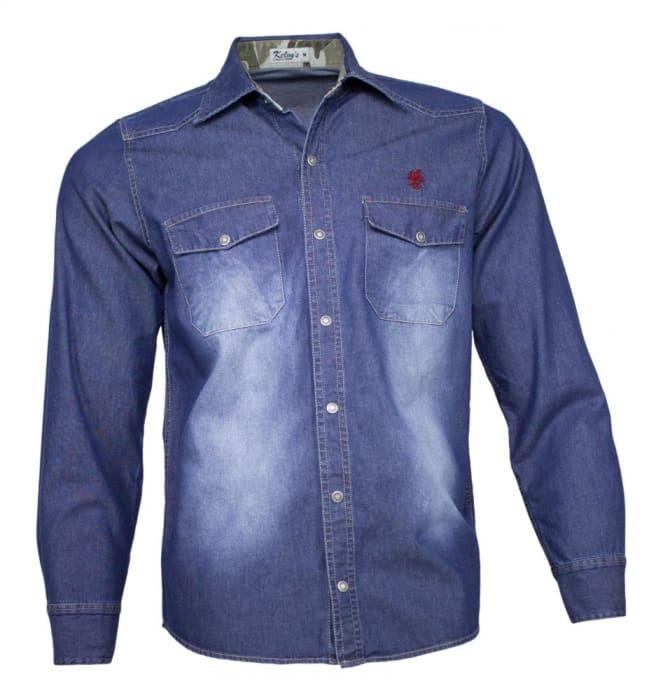 Camisa Jeans Masculina Stone Camuflada (0)