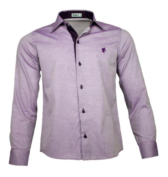 Camisa Social Masculina Lilas (0)