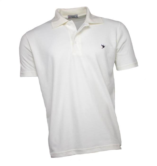 Camisa Polo Masculina Cor Cru (0)