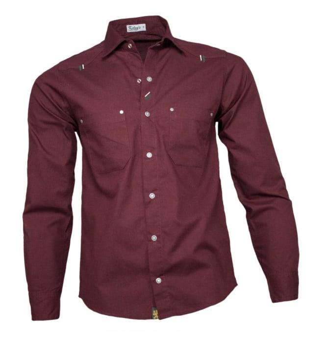 Camisa Sarja Masculina Vinho (0)