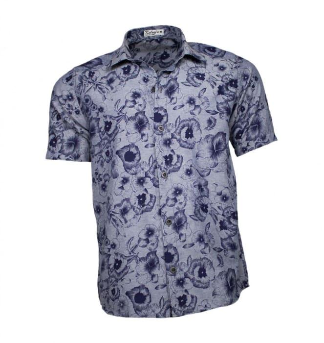 Camisa Floral Masculina Flores (0)