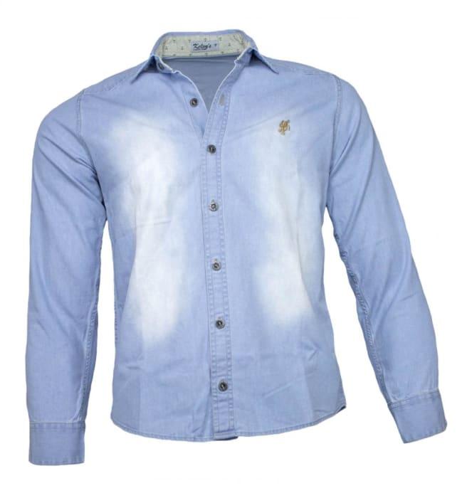 Camisa Jeans Masculina Sem Bolso Delave (0)