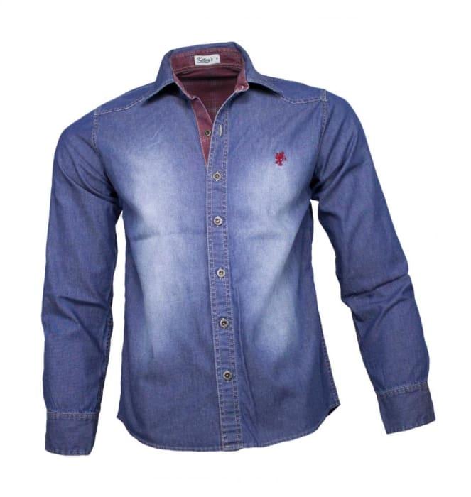 Camisa Jeans Masculina Sem Bolso Stone (0)