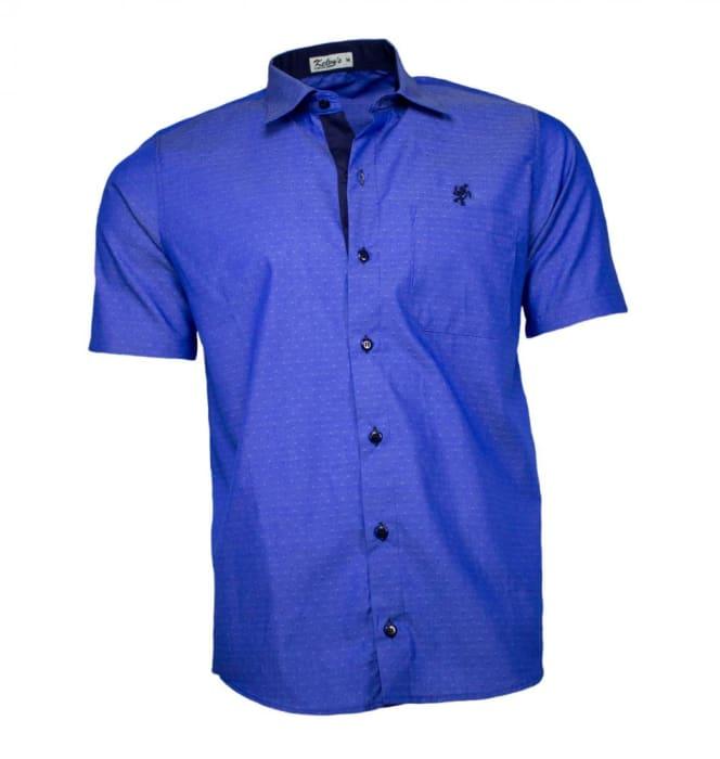 Camisa Masculina Manga Curta Azul (0)
