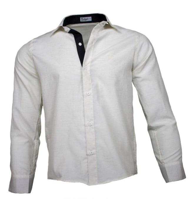 Camisa Social Masculina Linho Palha (0)