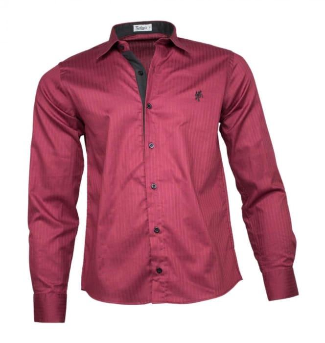 Camisa Social Masculina Marsala (0)