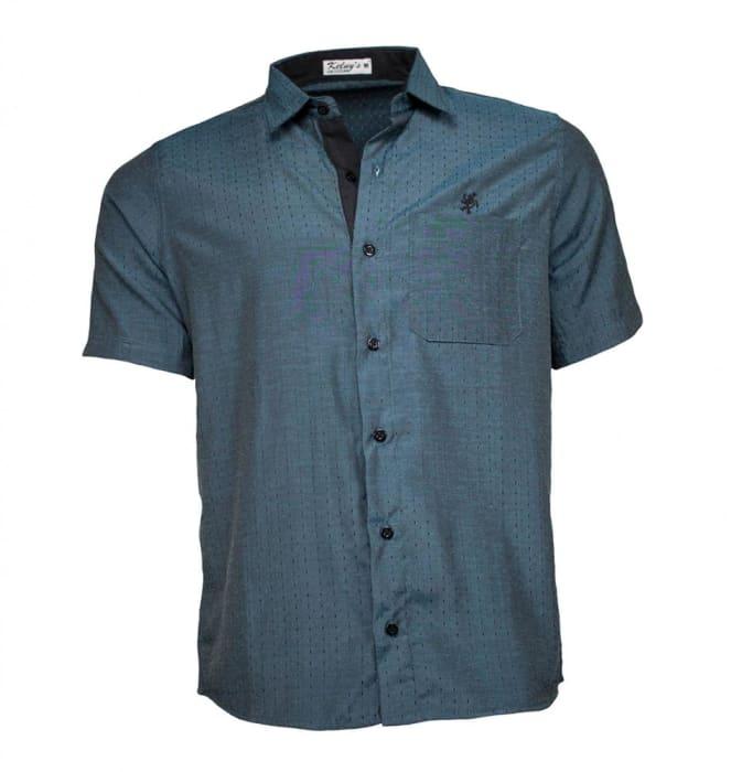 Camisa Masculina Manga Curta Verde (0)