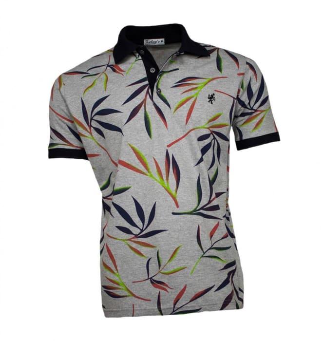 Camisa Polo Masculina Cinza Tropical (0)