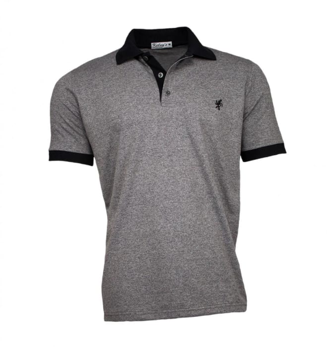 Camisa Polo Masculina Cinza Mescla (0)