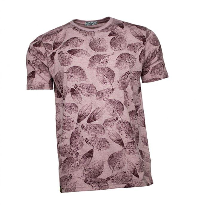 Camiseta Masculina Floral Marsala (0)