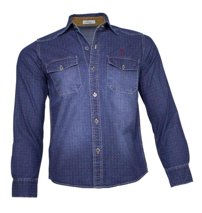 Camisa Jeans Masculina Super Stone (0)