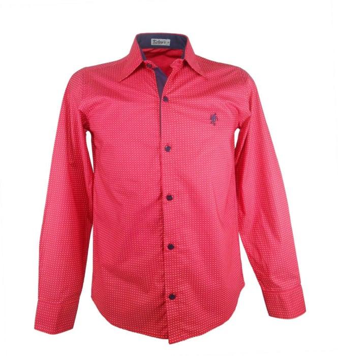 Camisa Estampada Vermelha Poa (0)