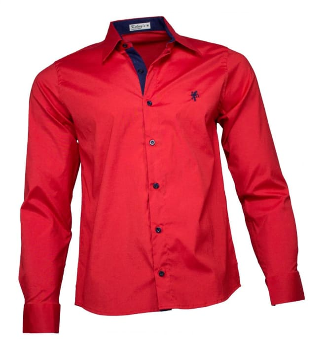 Camisa Masculina Social Vermelha (0)