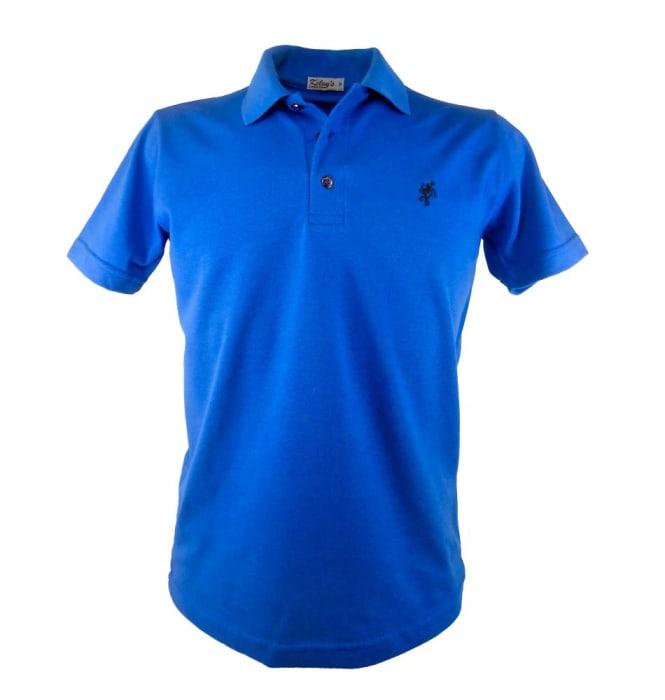 Camisa Polo Masculina Azul Royal (0)