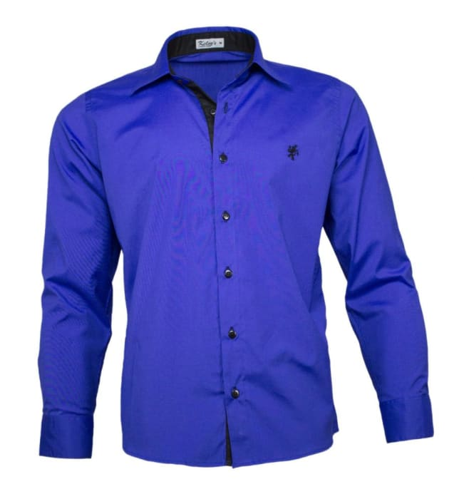 Camisa Social Masculina Azul Royal (0)