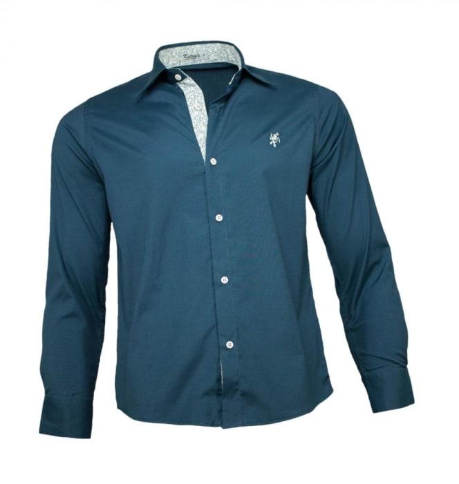 Camisa Masculina Social Verde Escuro (0)