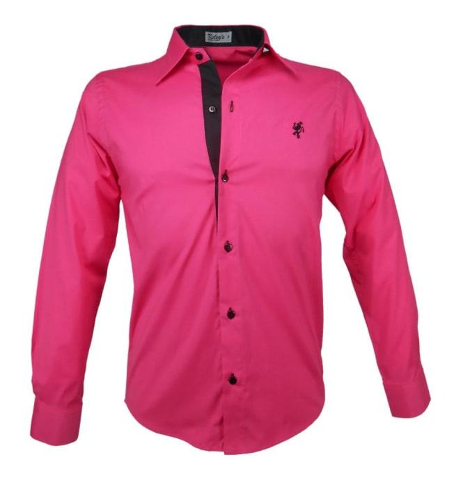 Camisa Social Masculina Pink (0)