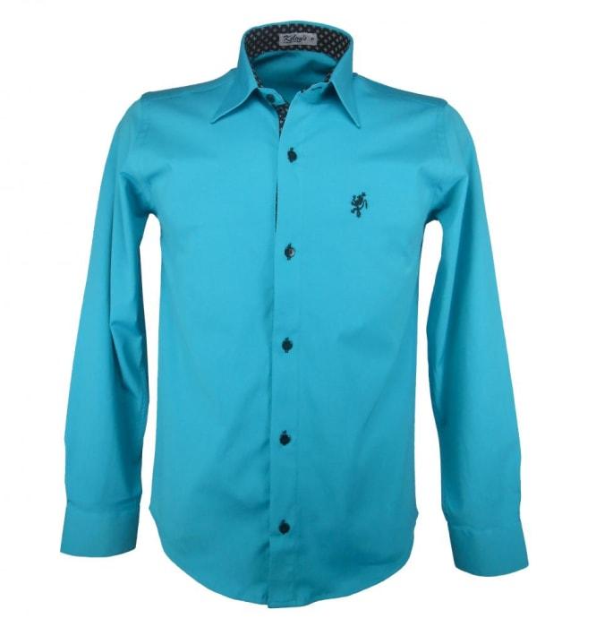 Camisa Social Masculina Verde Agua (0)