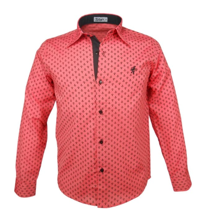 Camisa Social Masculina Coral Âncora (0)