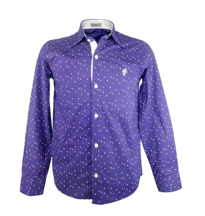 Camisa Estampada Roxo Estrelado (0)