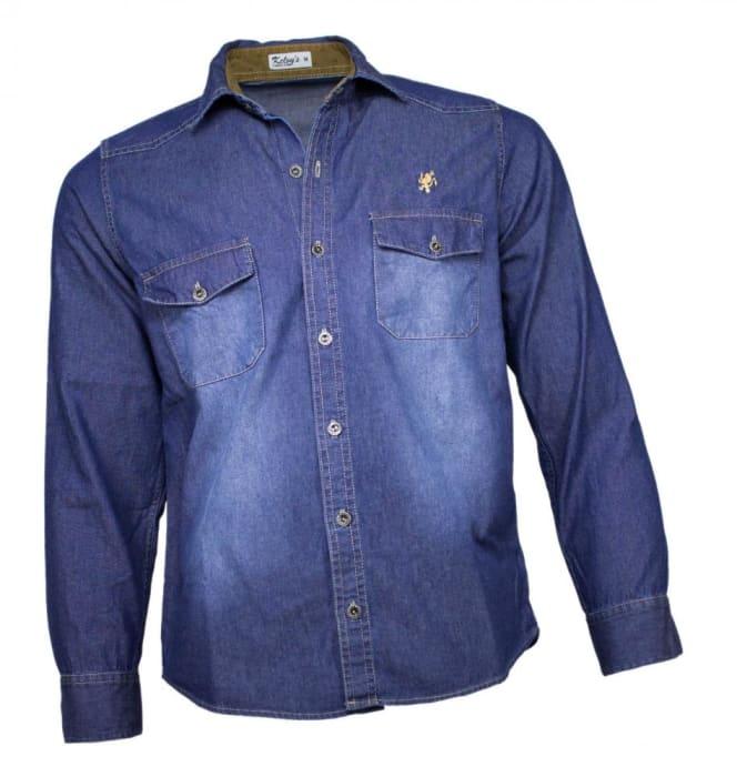Camisa Jeans Masculina Stone (0)