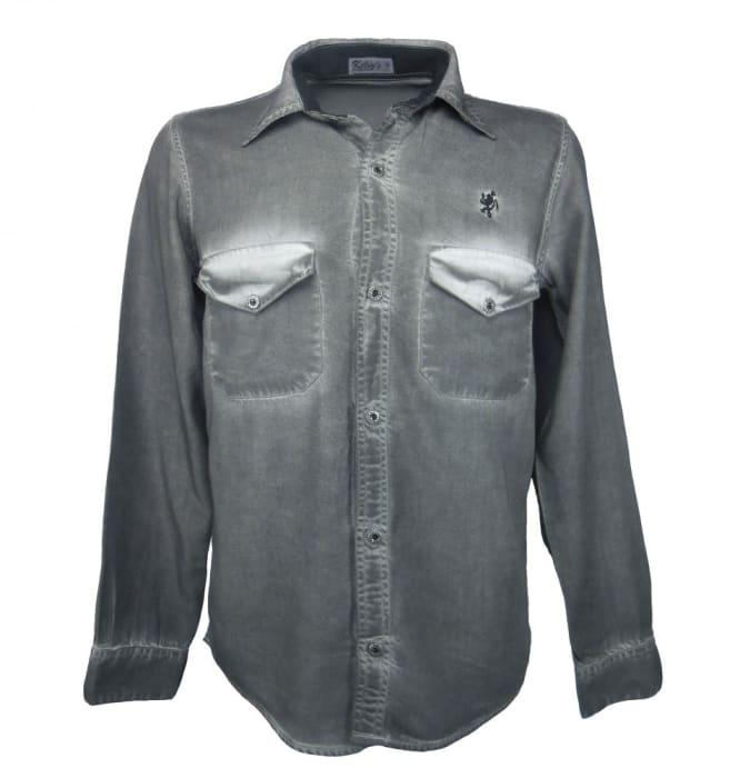 Camisas Coloridas Cor Cinza (0)