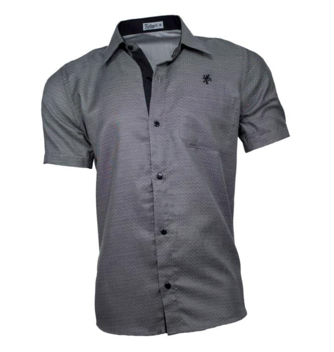 Camisa Masculina Manga Curta Grafite (0)