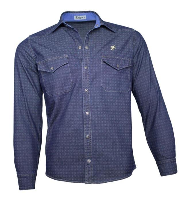 Camisa Jeans Masculina Super Stone Azul (0)