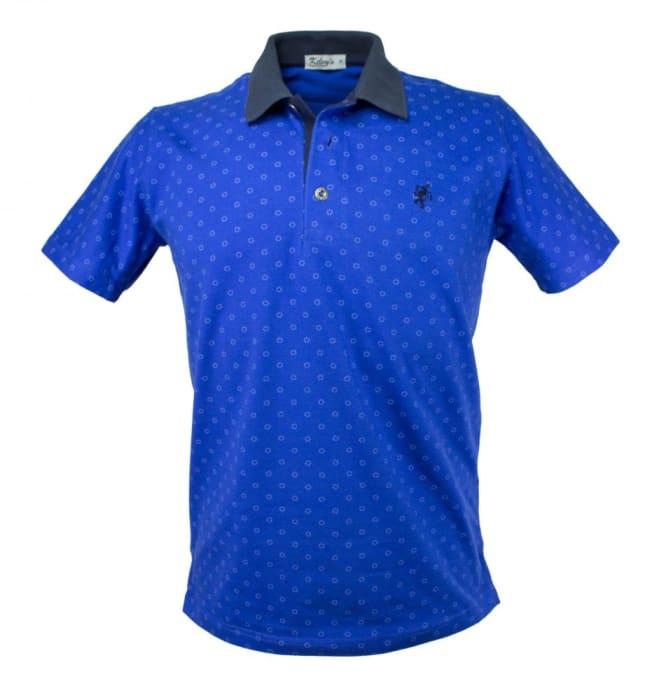 Camisa Polo Masculina Azul Royal Estampada (0)