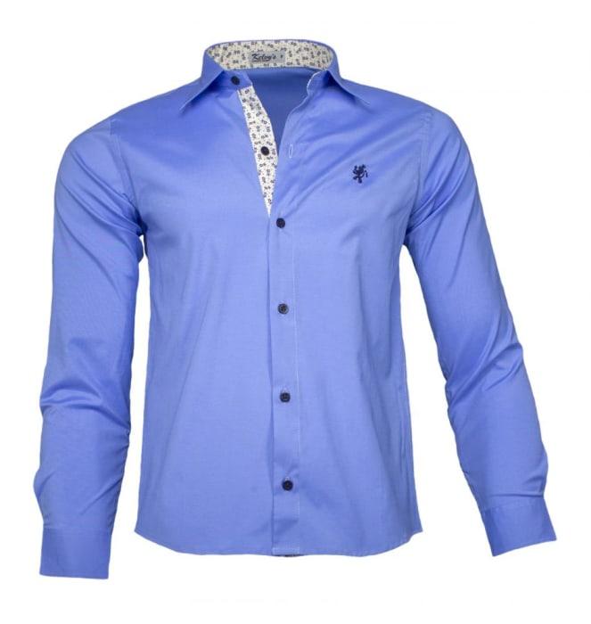 Camisa Social Masculina Azul Claro (0)