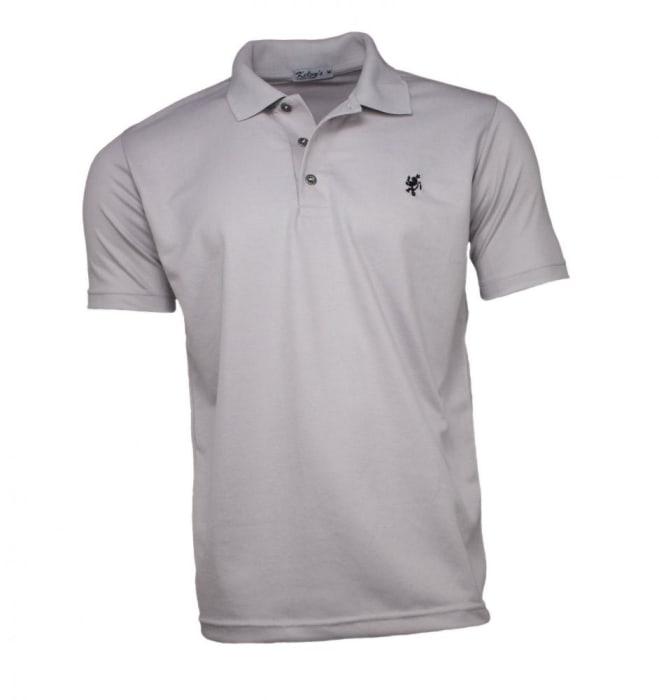 Camisa Polo Masculina Cinza Claro (0)