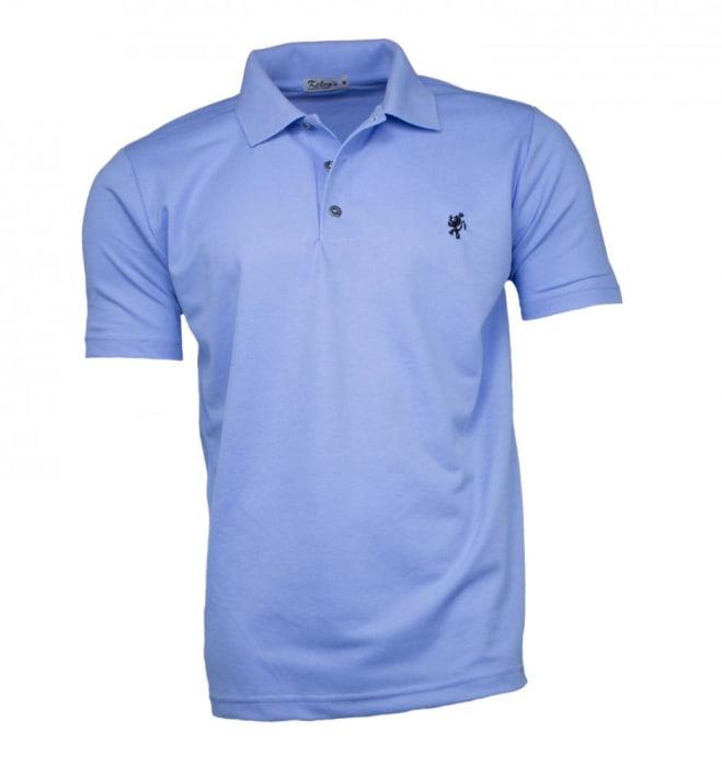 Camisa Polo Masculina Azul Claro (0)
