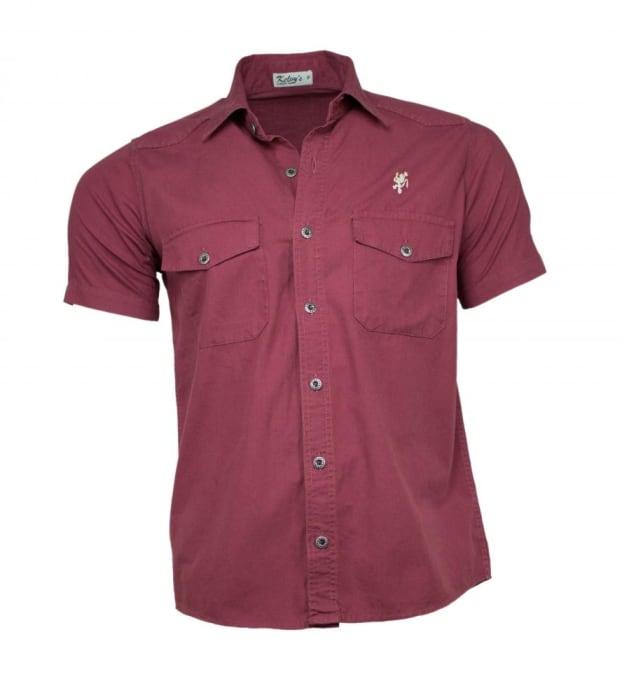 Camisa Sarja Masculina Marsala (0)