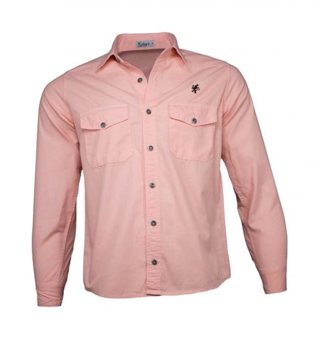 Camisa Sarja Masculina Salmão (0)
