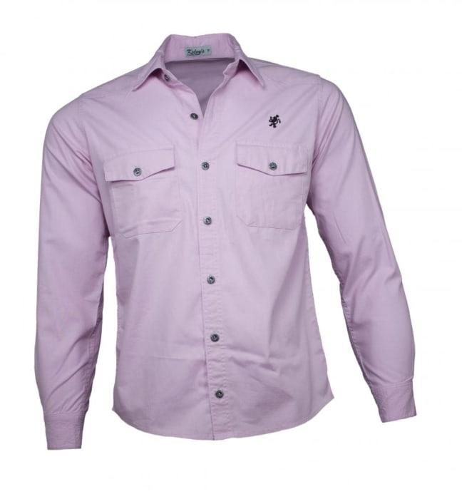 Camisa Sarja Masculina Rosa (0)
