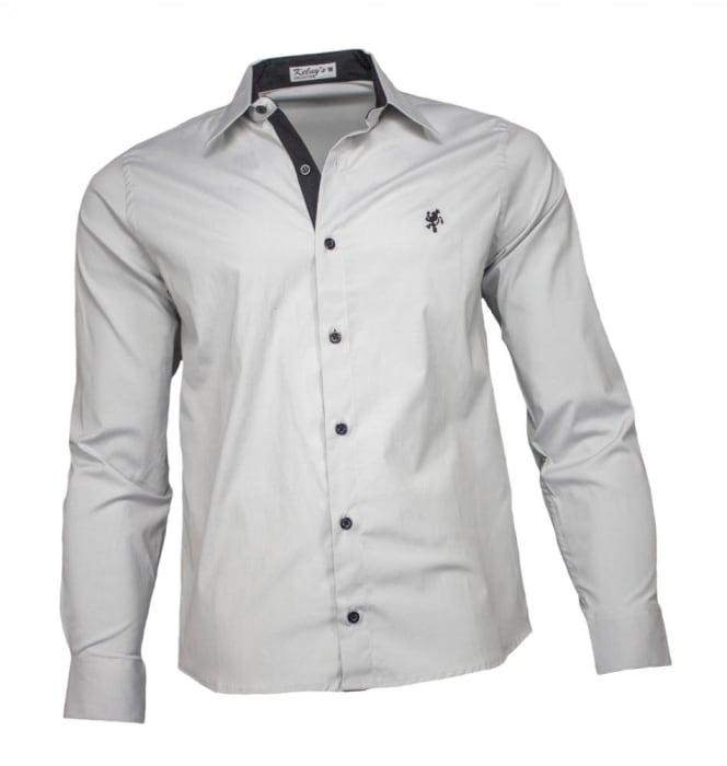 Camisa Masculina Social Cinza (0)