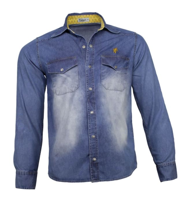 Camisa Jeans Masculina Sky (0)