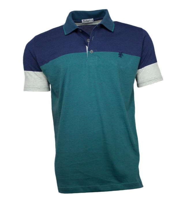 Camisa Polo Masculina Listrada Verde (0)