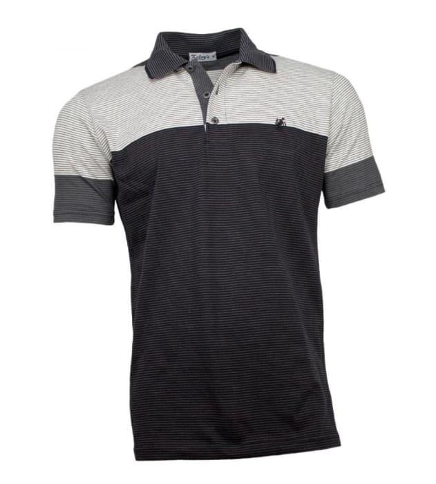 Camisa Polo Masculina Listrada Preta (0)