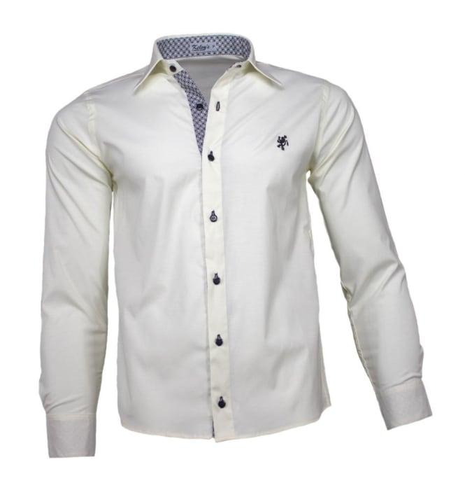 Camisa Social Masculina Bege (0)
