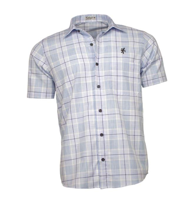 camisa-masculina-manga-curta-xadrez-azul