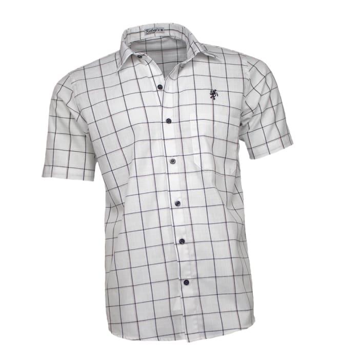 camisa-masculina-manga-curta-quadriculada-branca