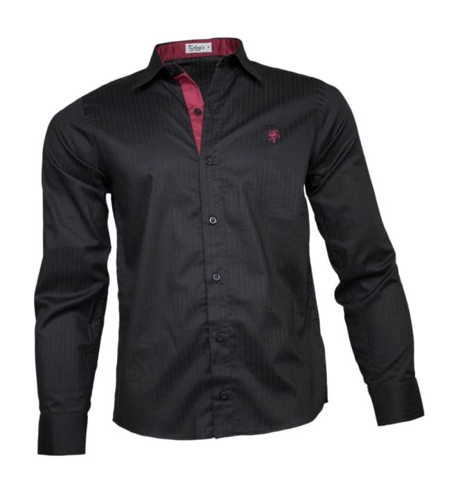 camisa-social-masculina-preta-risca
