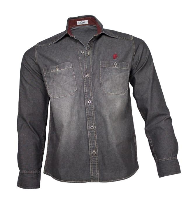 camisa-jeans-masculina-preta