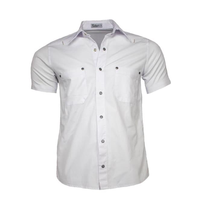camisa-sarja-masculina-manga-curta-branca