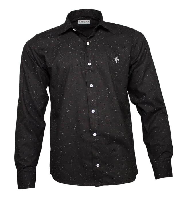 camisa-social-chuviscada-preta