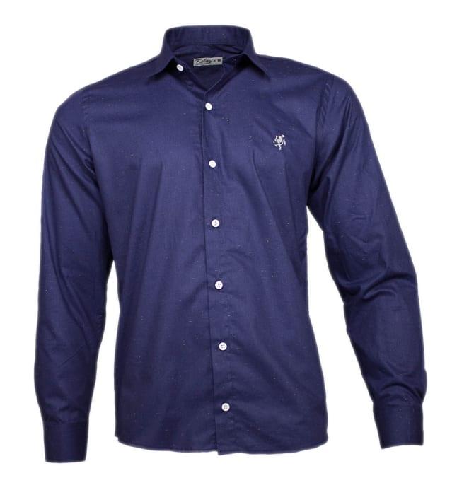 camisa-social-chuviscada-marinho